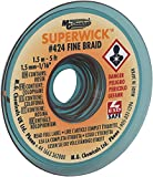 MG Chemicals Desoldering Braid #424 Fine Braid Super Wick with RMA Flux, 5' Length x 0.05' Width, Yellow