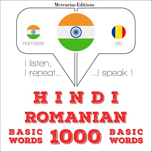 Hindi - Romanian. 1000 basic words cover art