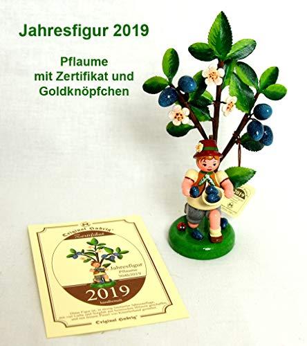 Hubrig Volkskunst Herbstkinder Jahresfigur 2019 Pflaume - 13 cm