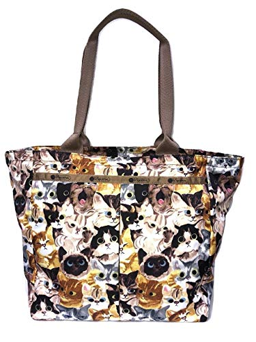 LeSportsac Cat Cafe Bene Traveling Everygirl Tote, Style 4311/Color K812 (carry-on bag)
