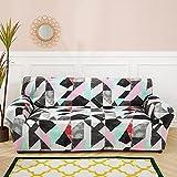 MKQB Funda de sofá geométrica Multicolor, Funda de sofá...