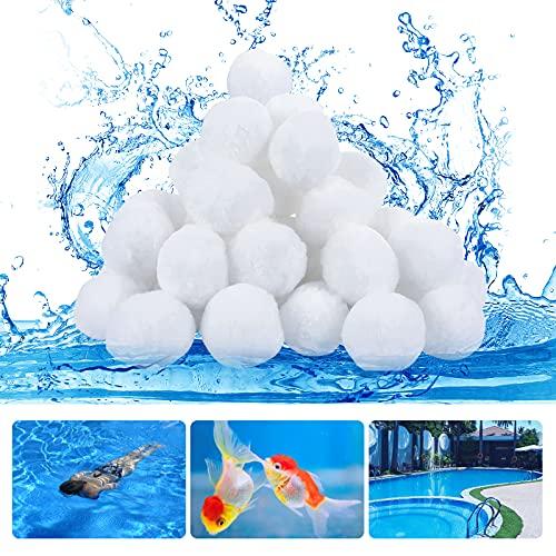QIANQI Filterbälle Pool - Filterballs für Sandfilteranlagen Filterbälle 500g Ersetzen 18 kg Filtersand Ersatz für Quarzsand, Filterglas, Filter Balls für Schwimmbad, Filterpumpe, Aquarium