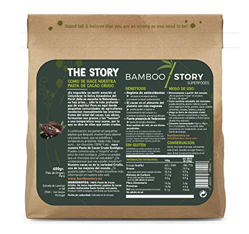 BAMBOO STORY MACA - Peruanisches – Rohpulver – BIOLOGISCH – 400 g