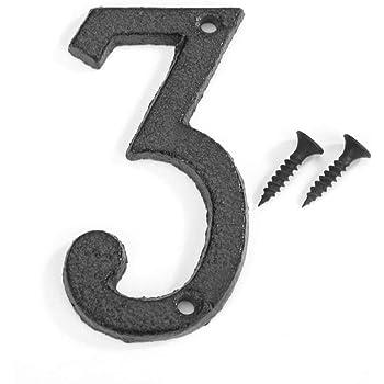 15 cm Clayre /& Eef 6Y0264-7 Numero civico 7 ca