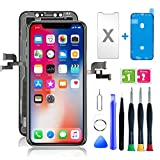 FFtopu iPhone X Screen Replacement 5.8 inch, LCD Display Touch Screen Digitizer Assembly with 3D Touch and Full Repair Tools for iPhone X Screen