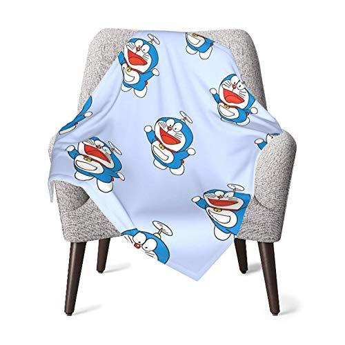 Hdadwy Doraemon Smile - Manta de bebé para niños, manta unisex, súper suave, cálida, para niños, para cuna, sillón, sala de estar, viajes, talla única