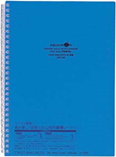 LIHIT LAB. Refillable Notebook (Journal), Lined Paper, 9.9 x 7.3 inches, Blue (N1608-8)