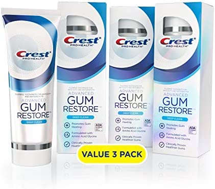 Crest Pro Health Advanced Gum Restore Toothpaste Deep Clean 3 7 Oz Pack of 3 product image
