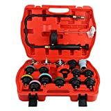 EBTOOLS 18PCS Rilevatore di perdite per serbatoi d'acqua per auto, kit di rivelatori per rilevatori di pressione per radiatori di autoveicoli di raffreddamento per auto universale