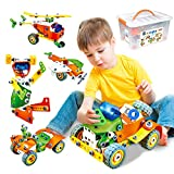 2021 New 163 Pieces Creative Construction Stem Learning Engineering Set | Educational Building Toys Gift for 6 7 8 9 Year Old Boy Girl|Stem Toys for Boys
