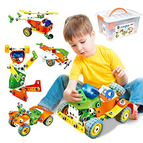 163 Pieces Creative Construction Stem Learning Engineering Set   Educational Building Toys Gift for 6 7 8 9 Year Old Boy Girl Stem Toys for Boys