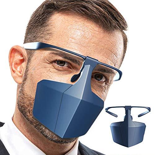 Safety Face Shield Protective Cover, Plastic Anti Splash/Smoke Face Shield Voor Dames, Heren En Kinderen Met Bril, Herbruikbaar, Waterdicht, Stofdicht, 5 Stuks,Blue