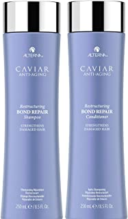 CAVIAR Anti-Aging Restructuring Bond Repair Shampoo and Conditioner Set, 8.5-Ounce