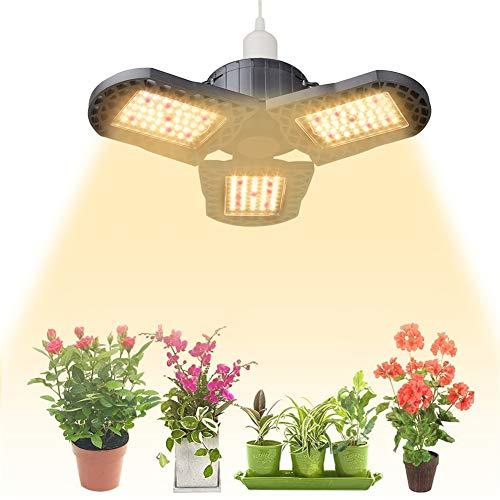 WQY COB LED Grow Light UFO Pflanzenlichter Verformbar 144LED 300W Vollspektrum E26 E27 Für Zimmerpflanzen Gewächshaus Gemüse Blüte