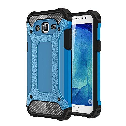 Skitic Custodia per Samsung Galaxy J5 2015 (SM-J500F) Armatura Rugged Heavy Duty Cover Doppio Strato TPU + PC Antiurto Protettiva Case per Samsung Galaxy J5 2015 Smartphone - Blu