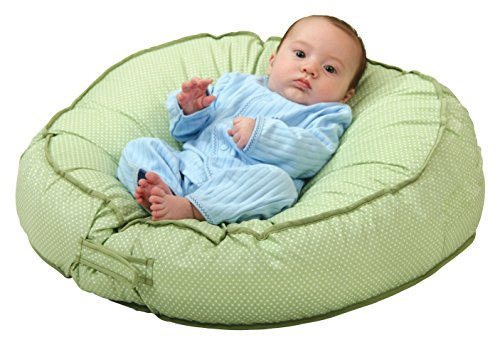 Image of Leachco Podster Sling-Style Infant Seat Lounger, Sage Pin Dot