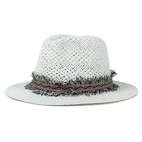 Xingyue Aile Sombrero de copa y gorras de vaquero, Nuevo bordado de dibujos animados hechos a mano de la rafia bordado ancho sombrero de playa grande, mujeres sombreros de paja Panama Sun Hat