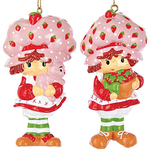 Kurt Adler STRAWBERRY SHORTCAKE BLOW MOLD ORNAMENT 2A