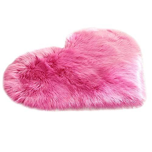 Kingko  Faux Fur Rug Soft Fluffy Rug 40 x 50 cm Shaggy Rugs Faux Sheepskin Area Rugs...