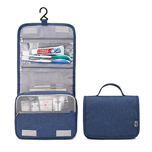 HGDGears Kulturbeutel Kulturtasche zum Aufhängen Kosmetiktasche,Große Reise-Kulturtasche für Frauen & Männer für Sport, Reise und Wandern, Wasserabweisend (Marine)