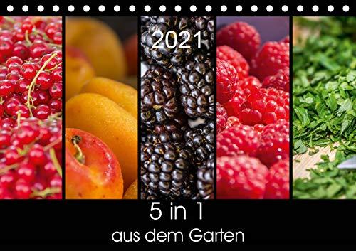 5 in 1 - aus dem Garten (Tischkalender 2021 DIN A5 quer)
