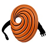 Naruto Cosplay Mask Uchiha Obito Resin Mask Prop Accessories Halloween Party (Orange mask, L)