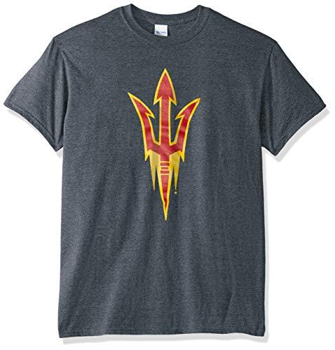 Elite Fan Shop NCAA Arizona State Sun Devils Mens T Shirt Charcoal Icon, Arizona State Sun Devils Dark Heather, Small
