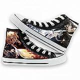 KUNIUO Demon Slayer Zapatos Casuales Casuales De Los Hombres De La Parte Superior Alta Zapatillas De Deporte Transpirables De Conducción Plana Vulcanizar Los Amantes De Los Zapatos para Caminar-B,43