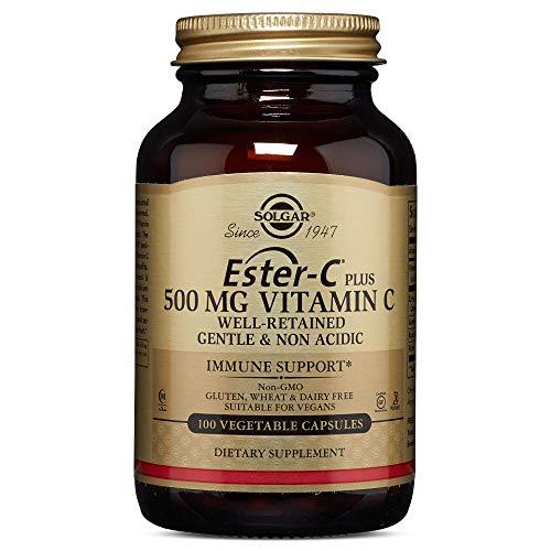 Solgar, Ester-C Plus, Vitamine C, 500 mg, 100 gélules végétales, sans gluten, sans soja