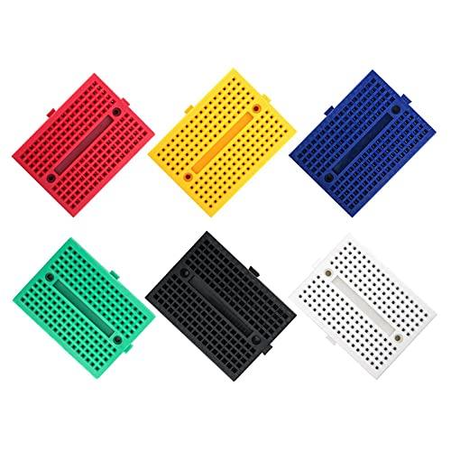 Placa pruebas sin soldadura Mini placa pruebas Kit placa pruebas para componentes electrónicos Placa pruebas Arduino Kit Placa pruebas para LED para bloques conexión distribución de protección Proto
