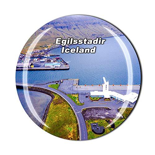 Akureyri Islandia - Imán para nevera con diseño de cristal 3D, colección de regalo, decoración para el hogar y la cocina, imán magnético para nevera