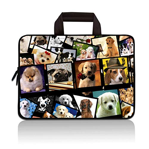 "11"" 11.6"" 12"" 12.1"" 12.5 Inch Laptop Carrying Bag Case Notebook Ultrabook Bag Tablet Cover Neoprene Sleeve Briefcase Bag Compatible with Samsung Google Acer HP DELL Asus(Cute Dog)"