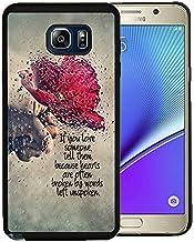 Nota 5caso, Samsung Galaxy Note 5negro Funda TPU goma Gel–Retro Nostalgia floral patrón