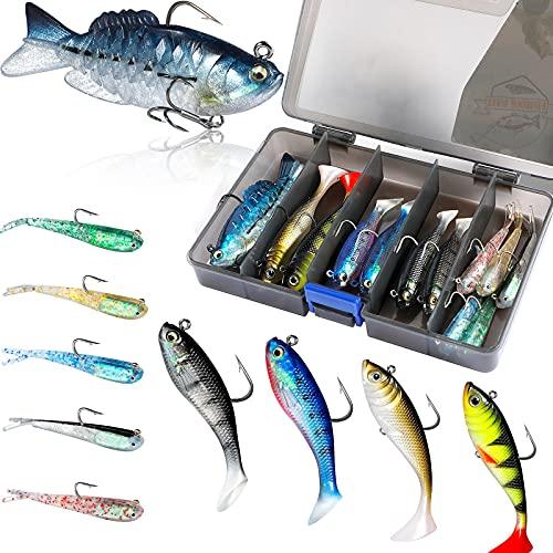 PLUSINNO Fishing Lures, Trout Pike Walleye Bass Fishing Jig Heads,...