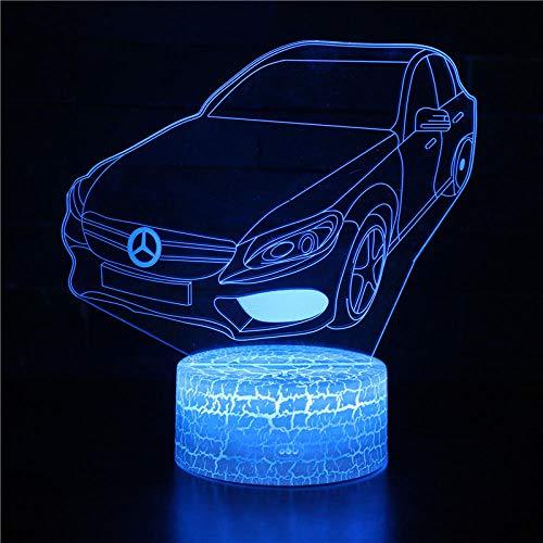 LED lámpara de ilusión-Coche deportivo de moda-Acrílica 3D Luz de Noche USB Cable Brillo Casa Luz de Diseño Creativo Dormitorio Decoración Iluminación Regalo Juguete para-Touch+Remote