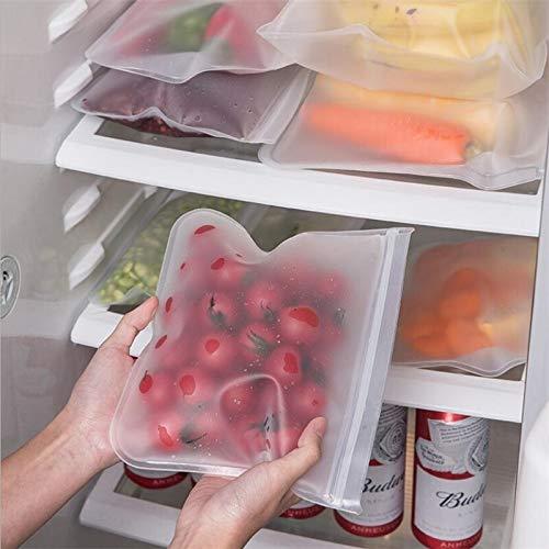ZBXCVZH 3 STÜCKE Silikon Food Storage Container Leckdichte Container Wiederverwendbarer Ständer Zip Shut Bag Back Tasse frische Tasche Lebensmittel Aufbewahrungstasche Frische Wrap