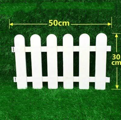 5PCS / Set Plastikgartenzaun Einfach Zusammenbauen Weiß European Style Insert Bodenbeschaffenheit Kunststoff Zäune for Garten Countryyard Decor (Color : 30X50CM)
