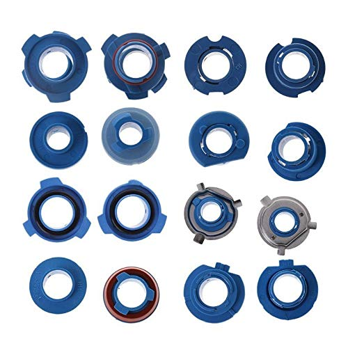 4 PCS Faro Bombilla Bombilla Adaptador Soporte de zócalo 880 / HB4 / HB3 / H11 / H7 / H4 / H3 / H1 para los faros halógenos de automóviles Base De La Bombilla Clips (Color : HB4)