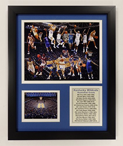 University of Kentucky Wildcats NCAA Double Matted Photograph Milestone Collage