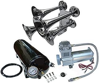 Viking Horns V103C-5/310 Loud 162 Decibels 4 Trumpet Train Air Horn Lit