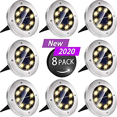 Biling Solar Lights Outdoor 8 Pack