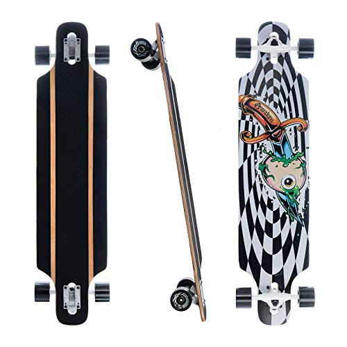 Awaken 40-inch Cruiser Complete Skateboard, Hard Maple Deck, Cruising, Free Gliding Skateboard, Suitable for Teenagers and Children as Well as Adults