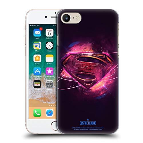 Head Case Designs Oficial Justice League Movie Superman 2 Logotipos Carcasa rígida Compatible con Apple iPhone 7 / iPhone 8 / iPhone SE 2020