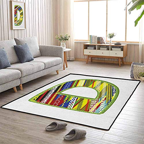 Dog Food Mat Letter of Ornament D from Alphabet Winter Color Scheme...