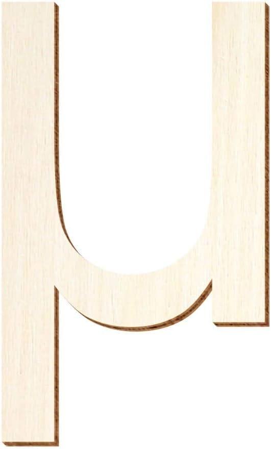Arial Madera N/úmeros y Caracteres Especiales de Madera autoadhesivos 5 cm B/ütic GmbH 4