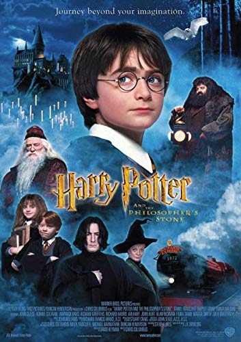 Poster Harry Potter 1 Harry Potter and The Philosopher's Stone Affiche cinéma Wall Art
