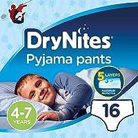 بنطلون بيجامة من دراي نيتس، لعمر 4-7 سنوات، للأولاد، 17-30 كجم، 16 بنطال رطب للسرير