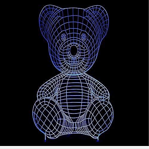 Plaid Bär light illusion lamp lamp for christmas-16 Farben ändern sich-Schwarze Basis