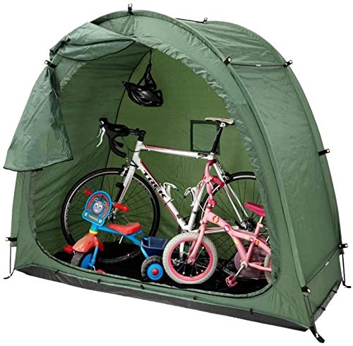 QIBIN Bicycle Tent Bike Storage Shed with Window Design High Capacity for Outdoors Camping, Scooter Or Storage in Green 200 * 80 * 165Cm