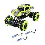 KGUANG Bigfoot Stunt Off-Road RC Car4WD Amortiguador Escalada Montaña 2.4G Control Remoto Buggy Carga USB Vehículo eléctrico de Juguete para niños Niño Cumpleaños Tres baterías